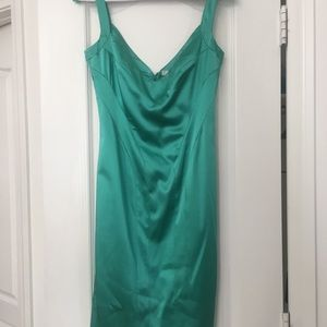 Versace Collection Green Satin Dress